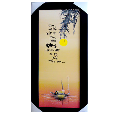 "Calligraphy Wall Hanging ""MOTHER"" 40cmx80cm (4mua VTP-MO02A)"