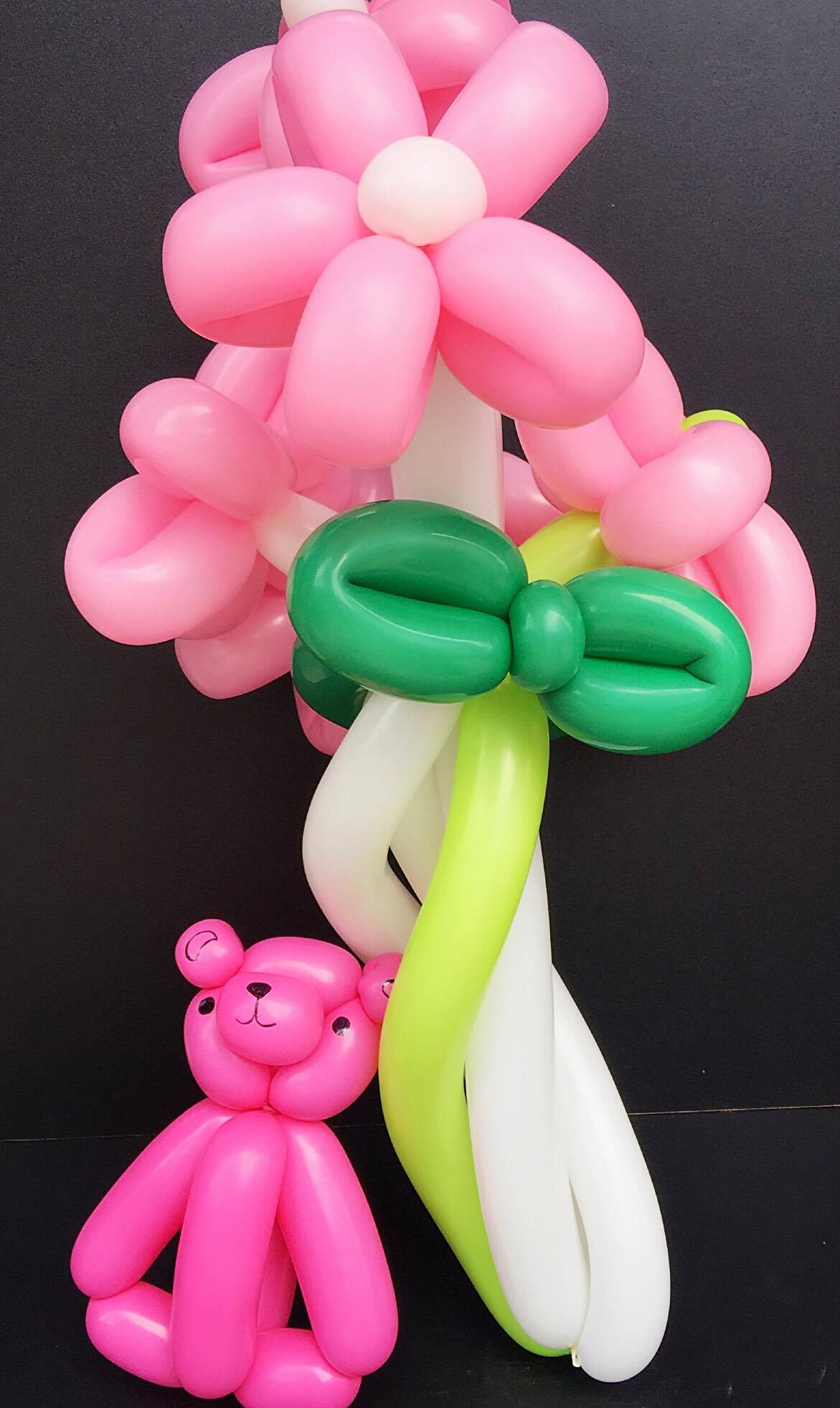 Balloon Flowers and Bear (4mua VOT-002BF2)
