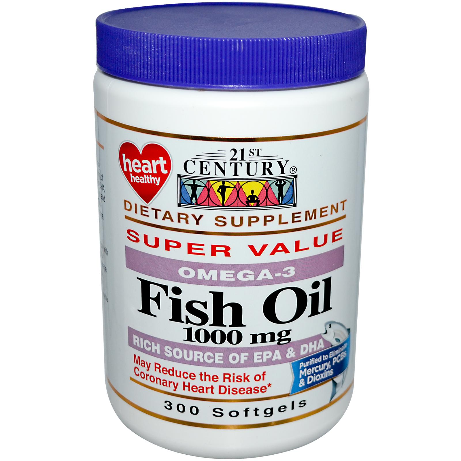 Fish Oil 1000 mg - Omega-3 / 300 Softgels (4mua HVI-008)
