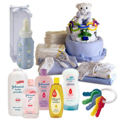 New Baby Boy Gift Basket (bonmua ABG-001A)