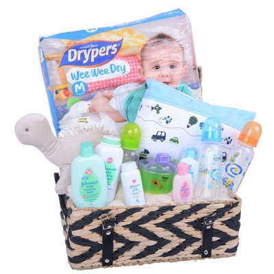New Baby Boy Gift Basket (4mua ABG-001A)
