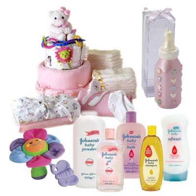New Baby Girl Gift Basket (bonmua ABG-001B)