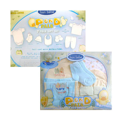 Bon BeBe 7 Piece Gift Set Newborn Up To 12 LBS (bonmua ABG-032J)