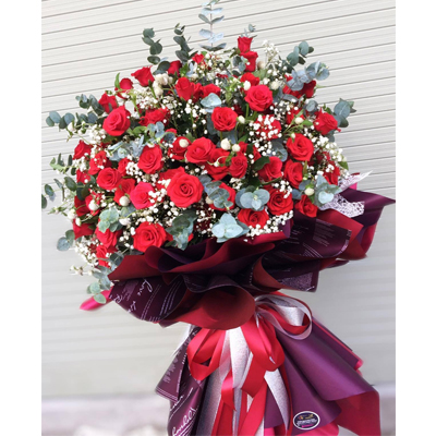 100 Red Roses bouquet (4mua BMS-007B1)