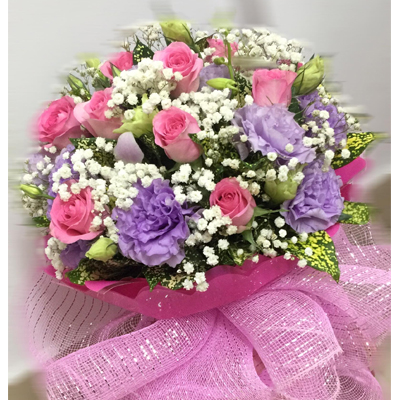 Pink and purple bouquet (4mua BOU-PP208)