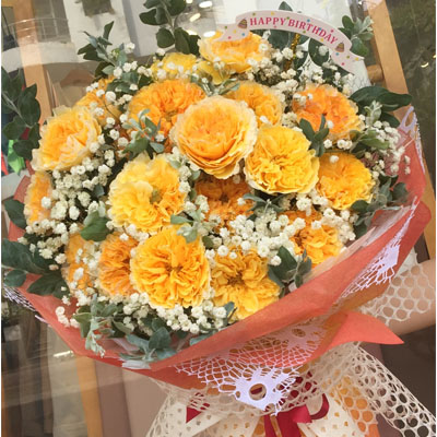 18 Orange Roses Bouquet (4mua BOU-RO18ORA)