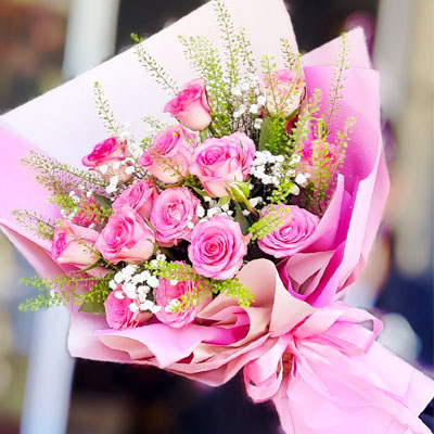 18 Pink Roses bouquet (4mua BOU-RO18PINK)