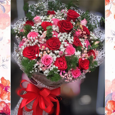 Three Dozens roses mixed bouquet (4mua BOU-RO36MIX1)