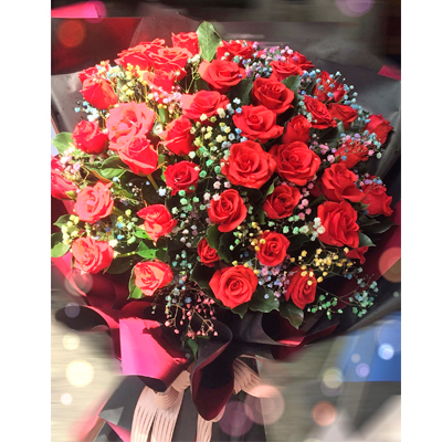 50 Red Roses bouquet (4mua BOU-RO50R1)