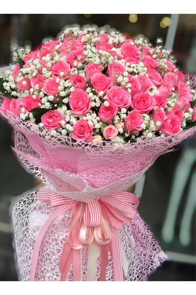 99 Pink Roses bouquet (4mua BOU-RO99P1)