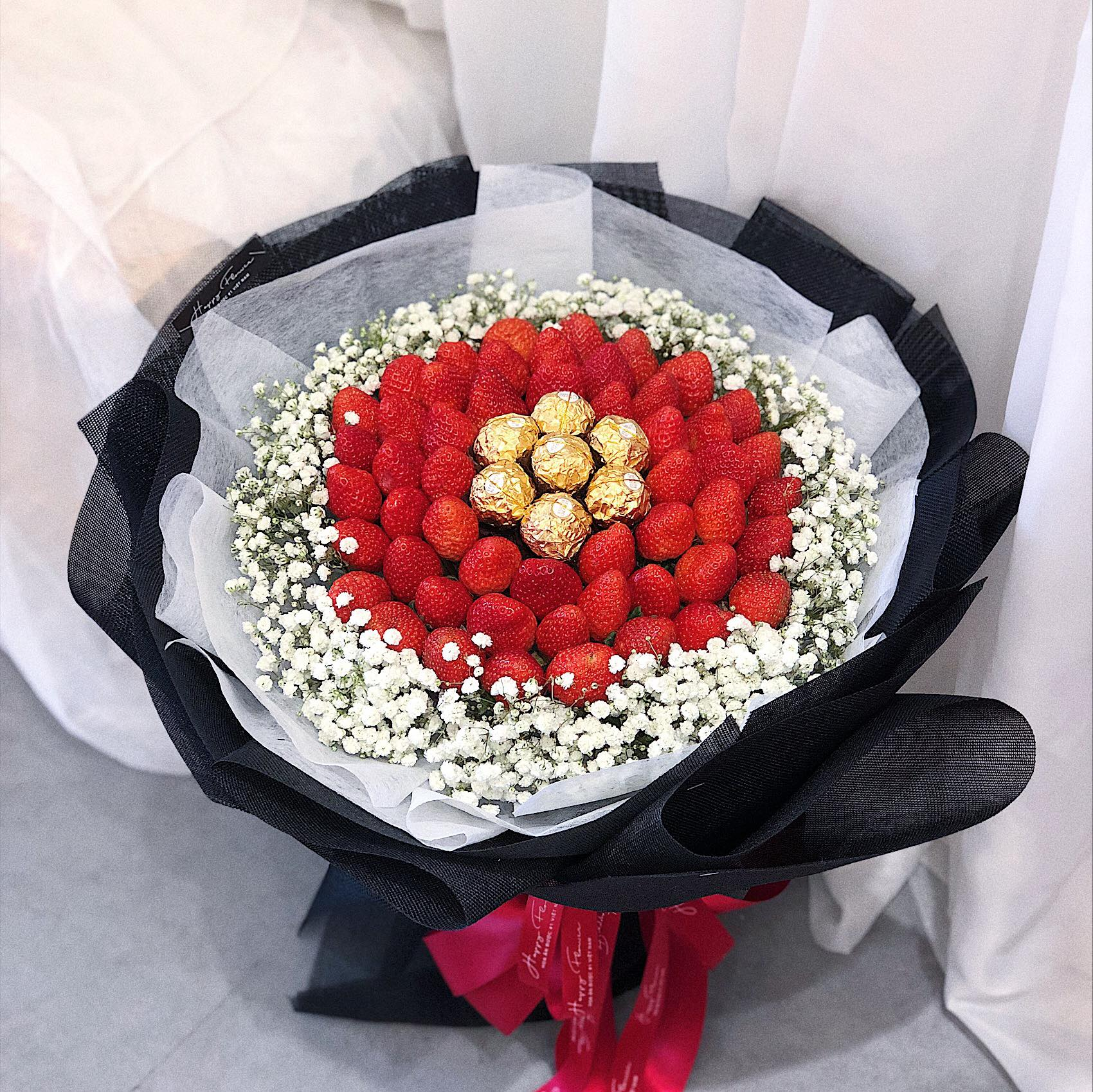 STRAWBERRY FRUIT BOUQUET / SAIGON ONLY (4MUA BMS-FRB004STR)