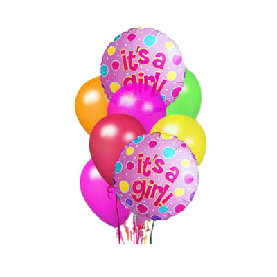 New Girl Baby Balloon Bunch (the FTD® EO-6100)