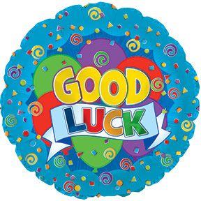 """GOOD LUCK"" mylar balloon 45cm x 45cm (4mua VOT-002GL)"