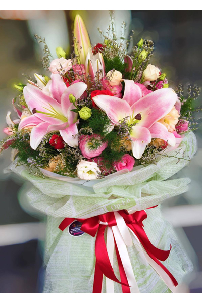 MIXED SEASONAL FLOWERS BOUQUET (4MUA HHF-BOU210)