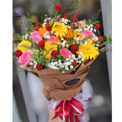 Bouquet Seasonal Blooms (4mua HHF-BOU211)