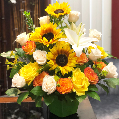 Sunny Flowers in vase (4mua HHF-MIX1123)