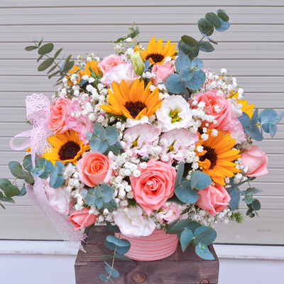Beautiful mixed colour in vase (4mua HHF-MIX1128)