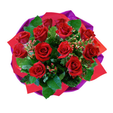 Bouquet of A Dozen Red Roses (bonmua HHF-R02BO)