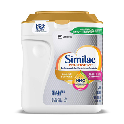 Similac Abbott Pro-Sensitive Non-GMO Powder Infant Formula with Iron with 2'-FL HMO for Immune Support 964g. Made in USSA (4mua HMI-05SENSITIVE)