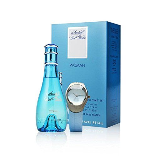 Davidoff Cool Water perfume with Watch for Women / EDT 100ml (4mua HPE-DA2B1)