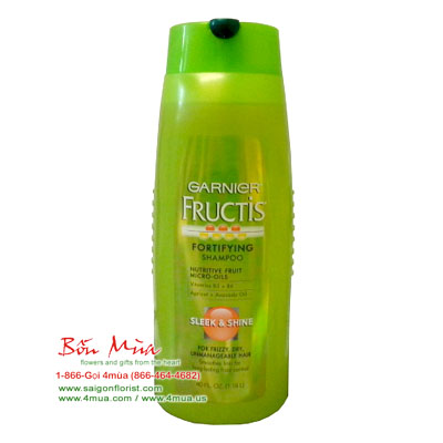 Garnier Fructis Fortifying Shampoo, Sleek & Shine for Frizzy, Dry, Unmanageable Hair / 1.18litterr (4mua HSC-SHGA1A)