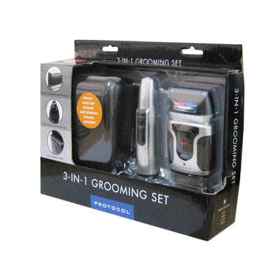 PROTOCOL 3-IN-1 Grooming Shaver gift set for men (bonmua HSH-PR2)