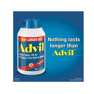 Advil® Ibuprofen/200mg Advanced Medicine for Pain®/360 Coated Tablets (bonmua HVI-FEV01)