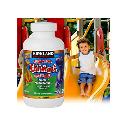 Kirkland Signature Children's Chewable Multivitamin (300 Tablets)(Bonmua HVI-CR3)