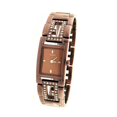 Guess Crystal rose gold tone ladies watch (bonmua HWA-GU18)