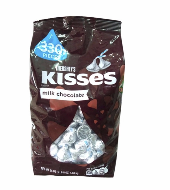 HERSHEY'S KISSES MILK CHOCOLATE 330PCS 1.58KG (4MUA VOT-003KIS01)