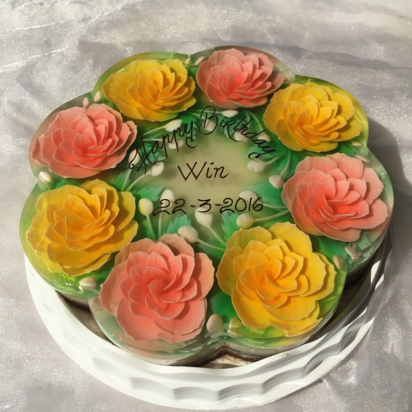 3D JELLY CAKE 25cm ( Flower) / SaiGon only (4mua VBA-JE0325F)