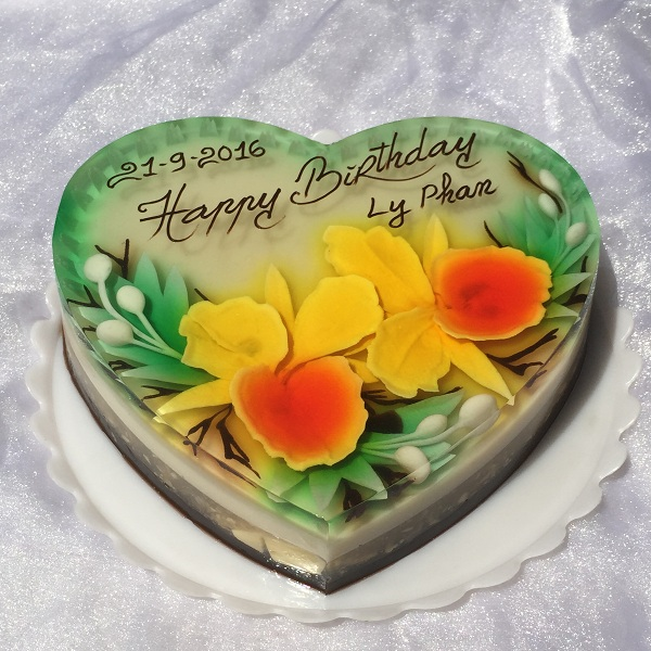 3D Jelly cake 25cm (Heart) / SaiGon only (4mua VBA-JE03B)