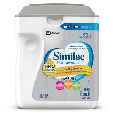 Similac Pro-Advance Powder Infant Formula with Iron , with 2&#39-FL HMO 34 oz./964g (4mua  HMI-05E)