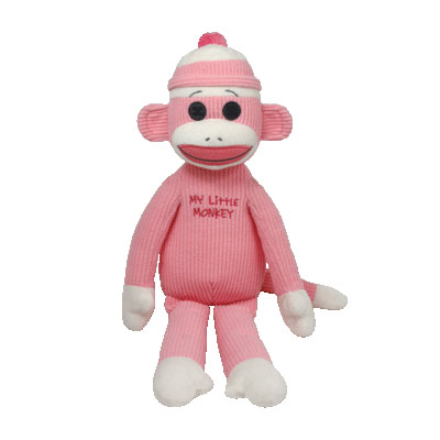 TY Beanie Babies My Little Monkey pink 38cm (4mua USA-TY15H)