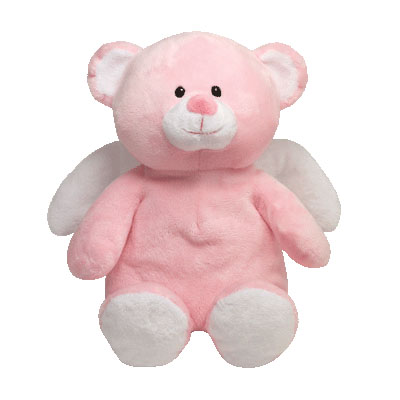Little Angel pink the TY Pluffies Bear 28cm (4mua USA-TY1ANG)