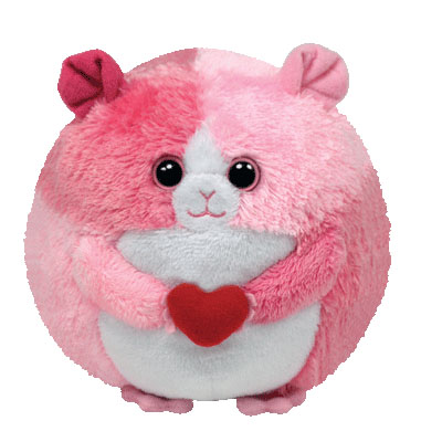 TY Beanie Ballz Rosa the hamster 10cm (4mua USA-TY25BALL)