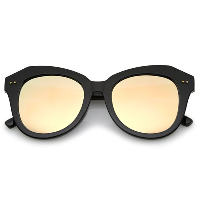 OVERSIZE WOMEN'S CAT EYE MIRRORED LENS SUNGLASSES (4mua USG-ZERO10)