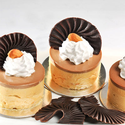 Dessert - Caramel Mousse / 6 mini cake / SaiGon only (4mua VBA-011)