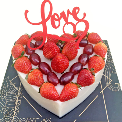 Jelly cake Heart Topper Fruit 20cm / SaiGon only (4mua VBA-JE20HEART)