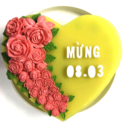 2D JELLY CAKE 30cm / SaiGon only (4mua VBA-2DJE30HEART)
