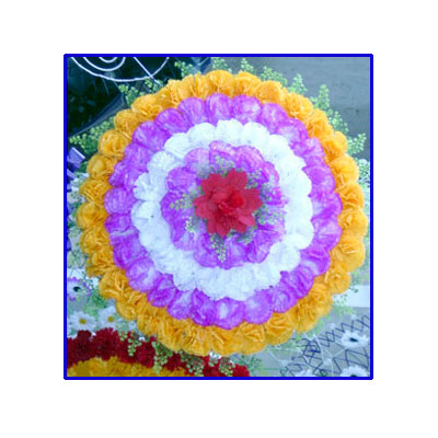Artificial Flowers Wreath of Sympathy (bonmua VFU-017)
