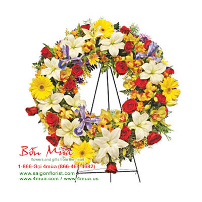 Colourful Wreath (4mua VFU-W046)