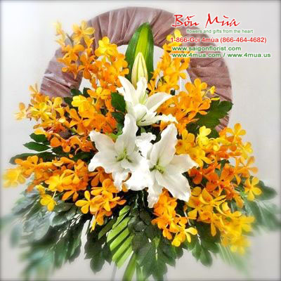 Orchid yellow wreath (4mua® VFU-W055)