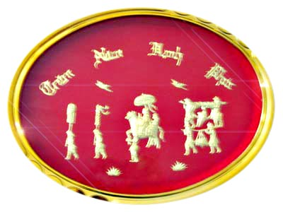 Gold plated picture Oval 0.4m - 0.35m (bonmua VKV-001)