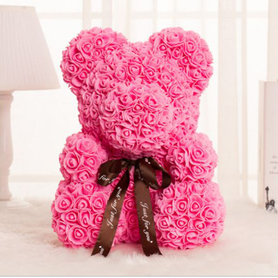 SOAP TEDDY BEAR PINK ROSE 40CM (4MUA VOT-001BROSE40PINK)