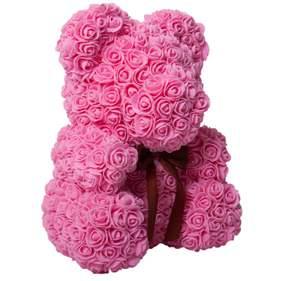 SOAP TEDDY BEAR PINK ROSE 80CM (4MUA VOT-SOBEAR80PINK)