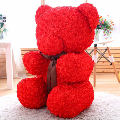 SOAP TEDDY BEAR RED ROSE 80CM (4MUA VOT-SOBEAR80RED)