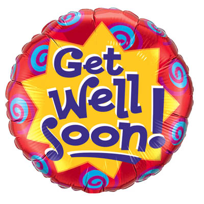 Get Well Soon Mylar Balloon (bonmua VOT-002G)