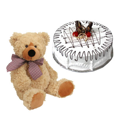 Cake for 8 - 10 persons and TeddyBear (4mua VOT-006AA)