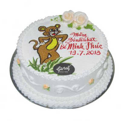 Animal birthday Cake 24cm (4mua VOT-006AN24)